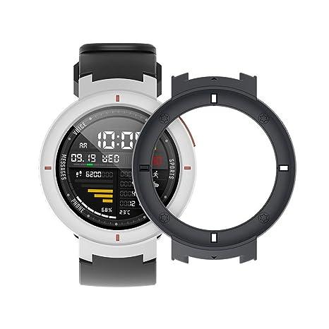 SIKAI Protector Case Funda para Amazfit Verge 3 Smartwatch Moda Slim Colorido Marco Caso Cubierta Proteger