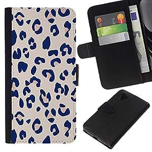 WINCASE Cuadro Funda Voltear Cuero Ranura Tarjetas TPU Carcasas Protectora Cover Case Para LG Nexus 5 D820 D821 - cita el texto negro blanco más