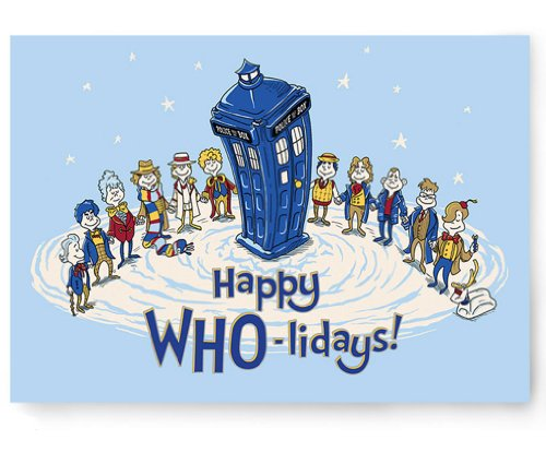 Doctor Who Christmas Cards.Doctor Who Happy Who Lidays Greeting Cards 12 Pack Buy Online