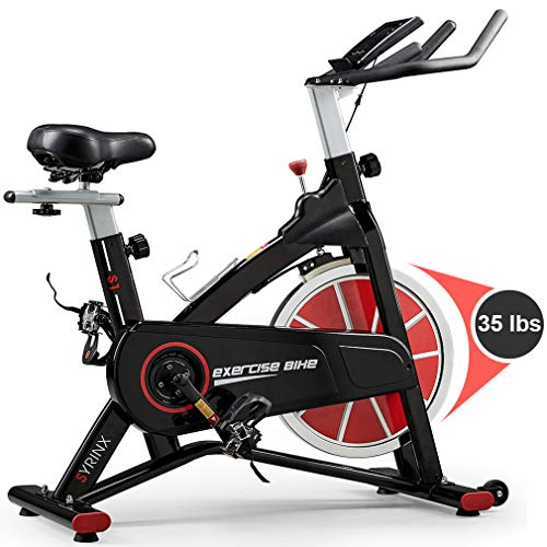 - SYRINX Indoor Cycling Bike-Belt Drive Indoor Exercise Bike,Stationary Cycle Bike for Home Cardio Gym Workout