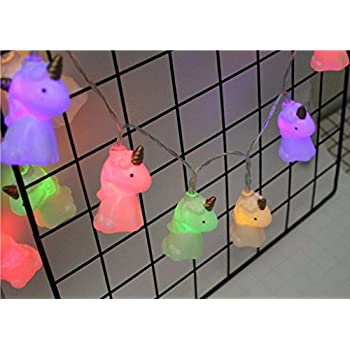 Amazon.com : Billy's Baskets Unicorn LED String Lights Battery ... on