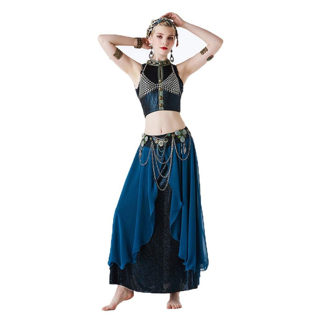 【全品送料無料】 ベリーダンスの衣装の女性、部族様式のセクシーなダンスの服の性能衣類スリーピースの設定 blue B07P95P8YY S s|Lake blue Lake blue Lake S s s, GNINE:d469d16b --- a0267596.xsph.ru
