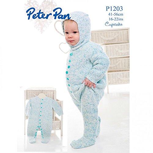 Peter Pan Baby Sleepsuit & Balaclava Cupcake Knitting Pattern 1203 DK