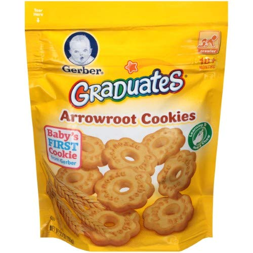 Gerber Graduates Cookies Arrowroot Pouch (Pack of 4)