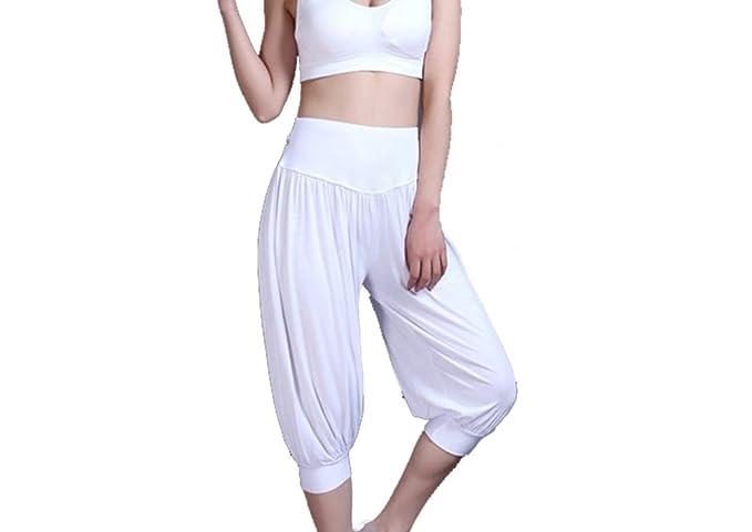 Baymate Mujeres 3/4 Holgados Harén Pantalones Comodidad Pantalón de Yoga