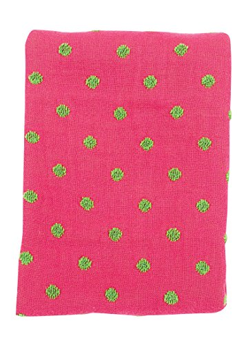 nd Terry Burp Pad, Hot Pink and Green Dot (Hot Dots Burp Cloths)