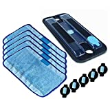 ANBOO Replacement Part for iRobot Braava 380 380t 320 Mint 4200 5200 Vacuum Cleaner Mop Pad Pro-Clean Mopping Clean Reservoir Pad 5pcs Wick Cap & Mop