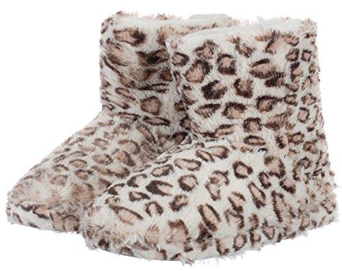 casa Estar Mujer Sintético de por Zapatillas brandsseller Material para Beige Leopardo de qwEFaIIxO
