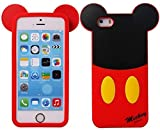 iPhone 6 Plus Mouse Mickey Silicone Case,iPhone 6S Plus 3D Cartoon Cases,WGOOD Cute Lovely Animal Soft Gel Rubber Silicone Protection Skin Case Cover for Apple iPhone 6 6S Plus 5.5 Inch