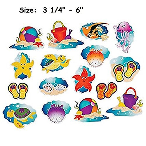 16 ~ Seaside Bulletin Board Cutouts ~ Approximately 3 1/4