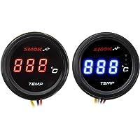 Wooya Universal Motocicleta LCD Instrumentos Digitales Term/ómetro Temperatura De Agua Temp-Azul