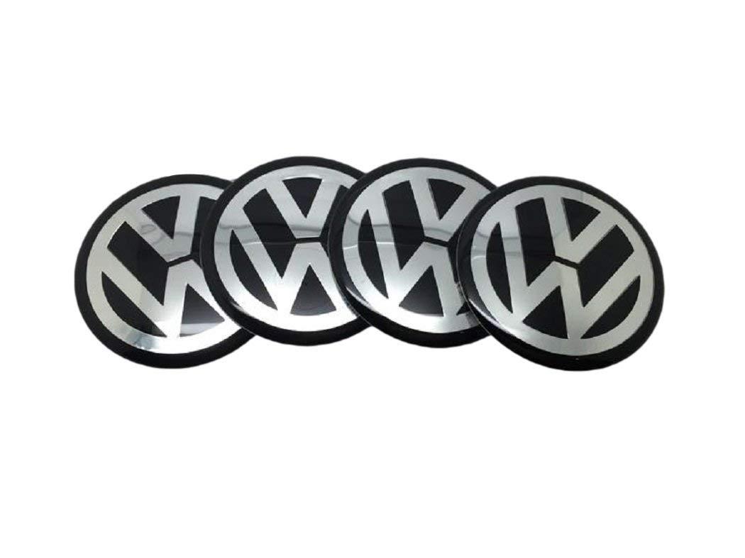 Popluxy 56,5mm Emblem Haube Logo Vorne Hinten Motorhaube Kofferraum Radnabenkappen Mittelabdeckung Aufkleber 4 St/ück F/ür BMW