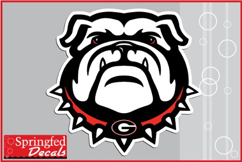 "Georgia Bulldogs DOG w/ SPIKE COLLAR 12"" Vinyl Decal UGA Car Truck Sticker"