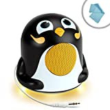 GOgroove Portable Kids Penguin Speaker with Dynamic Sound and LED Base - 3.5mm Connection for Laptop , Notebook , Smartphone , Tablet MP3 Player and more Devices