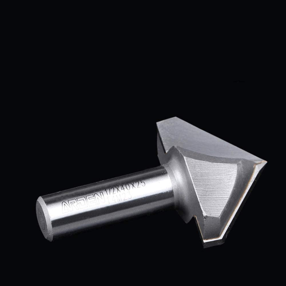 Drill Bit Sets 1pc V-Groove Engraving Cutter 1/4 1/2 Two Flutes 3D Arden Router Bits Wood 60 90 120 150 Deg Tungsten Woodworking Milling Cutter-12.7x50x120deg 12.7x22x60deg
