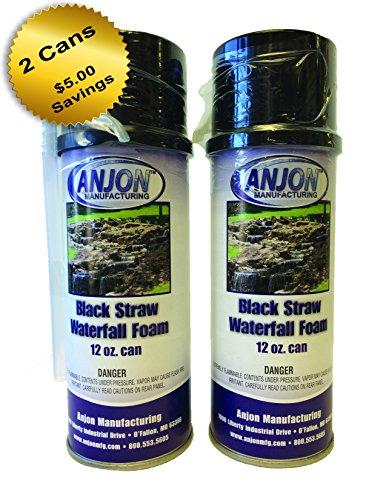 - Anjon Manufacturing Professional Waterfall Foam 12oz Can, Black, No Gun Needed (2)