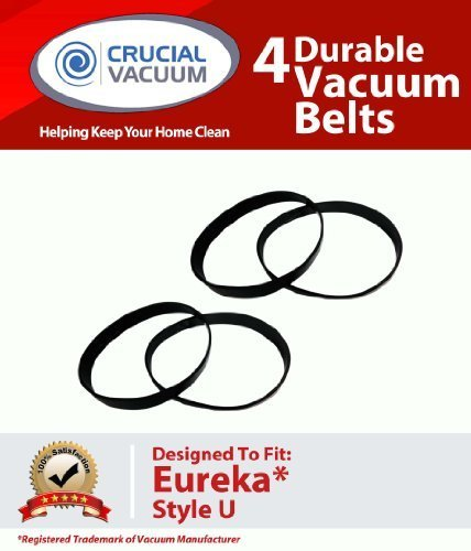 4 Eureka Style U Belts Fit Eureka Uprights, Whirlwind, Victo