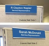 Cubicle Nameplate Holders - Two Sided (8'' x 2'' x 3'')