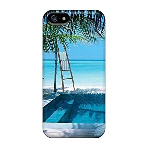 USMONON Phone cases Iphone Iphone 5 5s Cover Case - Eco-friendly Packaging(beach)