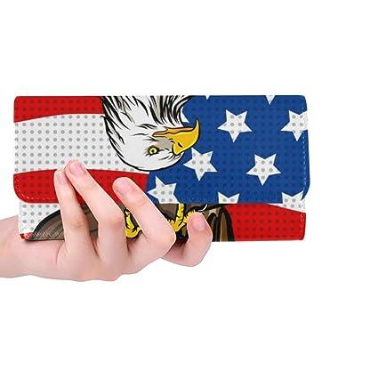 Único Custom American Eagle Pop Art Retro Mujeres Monedero ...