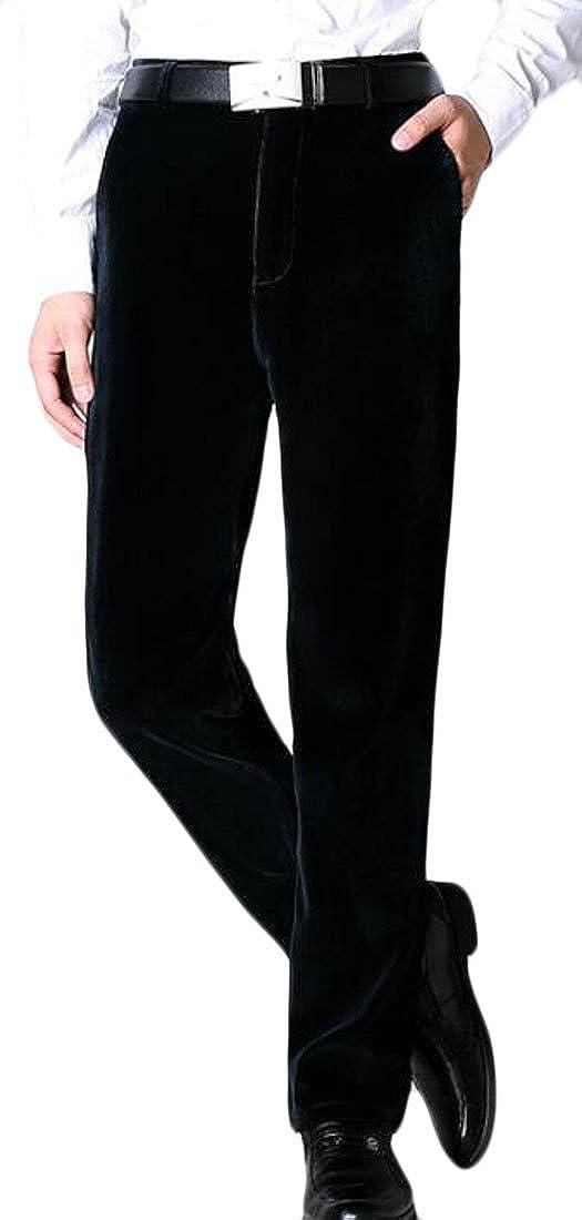 X-Future Mens Performance Micro Solid Gabardine Straight-Fit Plain-Front Dress Pant