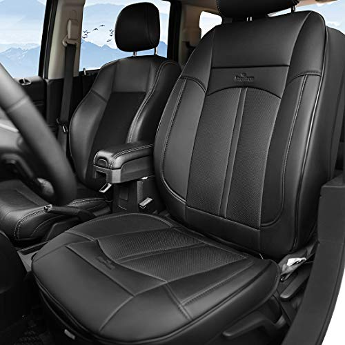 Livtribe Leather Car Seat Covers, Full Size Airbag Compatible Waterproof Universally Fit for Car(1 Seat, Black)