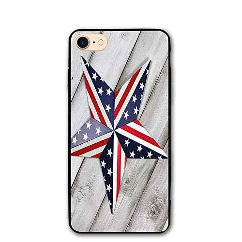 Haixia iPhone 7/8 Phone Shell 4.7 inch 4th July Decor Independence Day Banner Balloons National Parade Country Image Full Blue Scarlet
