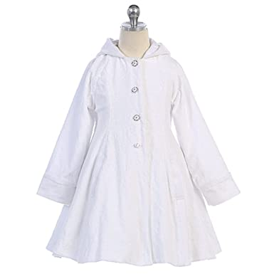 Amazon.com: Angels Garment Toddler Girls White Wool Hooded Swing ...
