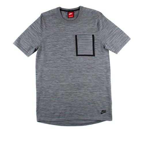 Nike Mens Tech Knit Pocket T-shirt Grey/Black Size M