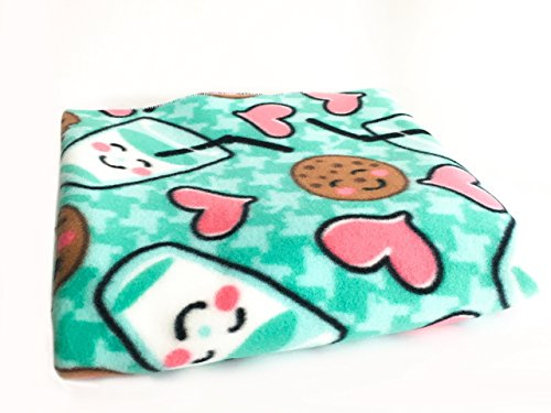 Fleece Cage Liner-Green milk and cookies 2x3 2x4 2x5 midwestern