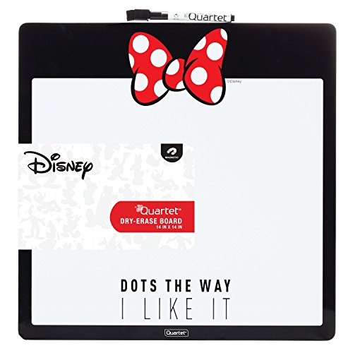 """Disney Minnie Mouse Magnetic Dry Erase Board by Quartet, 14"""" x 14"""" White Board / Whiteboard (42312)"""