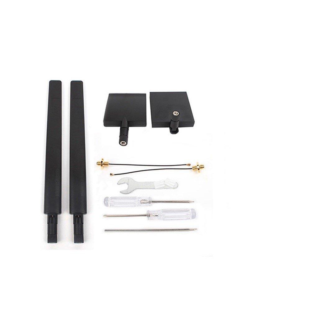 1 Pair of 2.4G 7DB Flat Directive Antenna Range Extender & 1 Pair of 2.4G 8DB Omni-Directional Signal Range Booster Kit for DJI Mavic Pro DJI Maivc Air DJI Spark Taoke