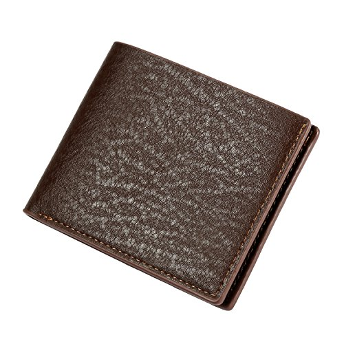 Fold Hipster Wallet (Leather Men's Wallet (Black or Brown) Slim Travel Bifold Hold Credit Cards Money ID)