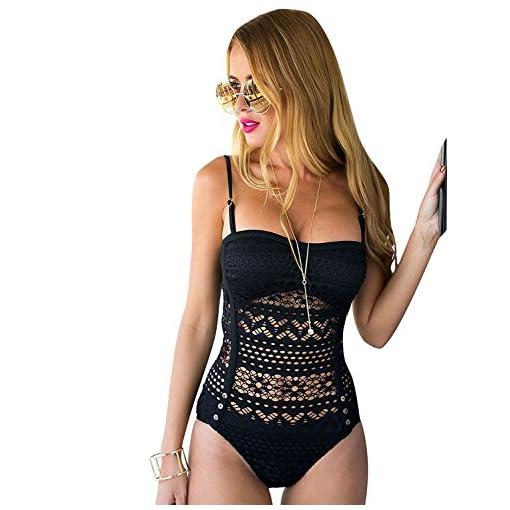 Lookbookstore Womens Crochet Lace Halter Straps Swimsuits Bathing Suit Us 0 16