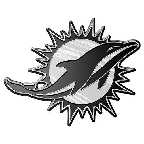NFL Miami Dolphins Chrome Automobile Emblem