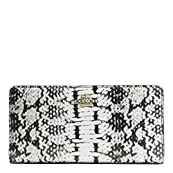 COACH Women's Color Block Exotic Skinny Wallet LI/Black Clutch