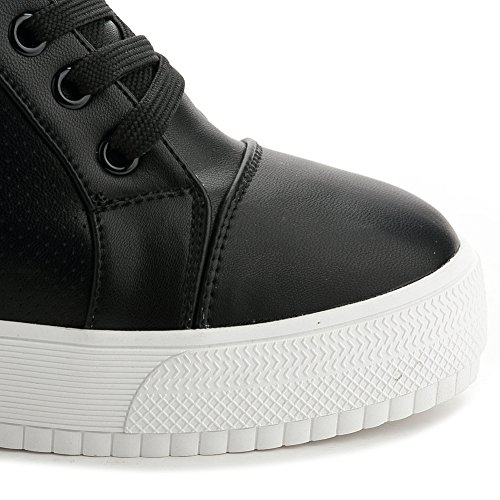 Platform U Casual Women's Black Sneakers Shoes Wedges Fashion Sneakers Breathable MAC fwT0qOxwa