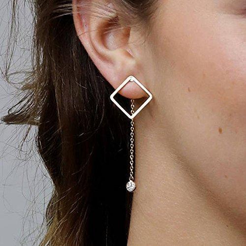aa2cf83ce1149 Amazon.com: Geometric Earrings Gold Silver Rose Gold Simple Earring ...