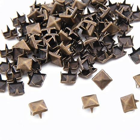 NaiCasy 100/x 8/mm Metal DIY Pir/ámide Tachuelas Remaches G/ótico Bronce