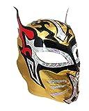 SIN CARA Lycra PRO Adult Lucha Libre Wrestling Mask (pro-LYCRA) GOLD/Black