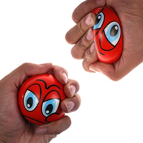 CoscosX 12 Pcs Funny Face Squishy Balls Squeeze Emoji Stress-Relief Balls - Buy Online in UAE ...