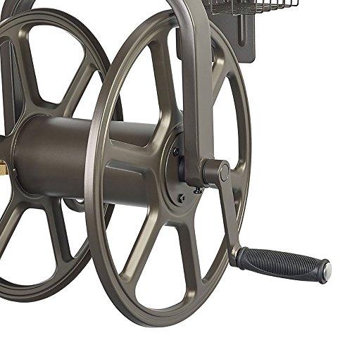 Liberty Garden 712 Single Arm Navigator Multi-Directional Garden Hose Reel, Holds 100-Feet of,...