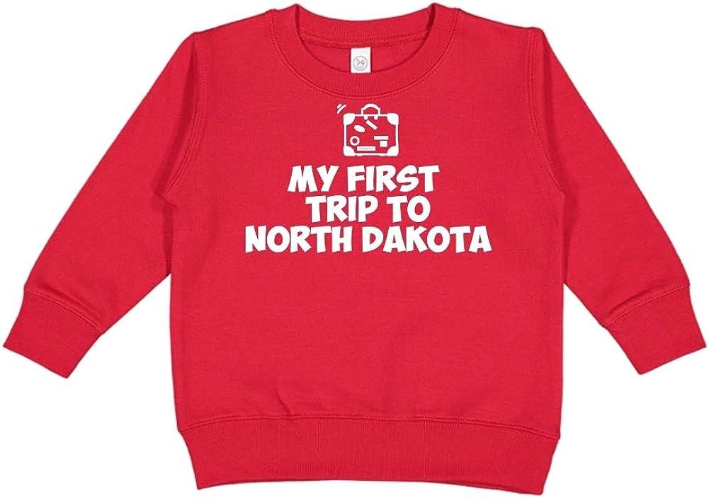 Toddler//Kids Sweatshirt My First Trip to North Dakota