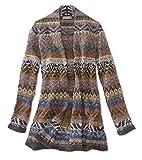 Orvis Women's Fair Isle Sweater Coat, Large