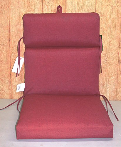 (6) Outdoor Patio Chair Cushions ~ Stitch Texture Brick Red ~ 21 x 46.5 x 3NEW SHIPPING INCLUDED (Sale Brick Furniture)