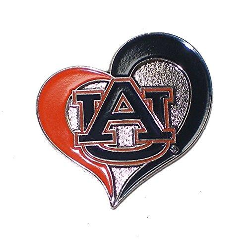 Auburn Tigers Lapel Pins (Auburn Tigers Lapel Pin Team Logo in Heart Design NCAA Licensed)