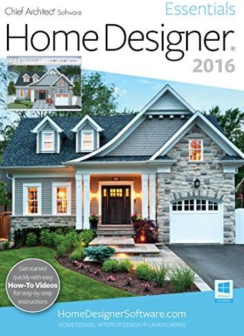 Amazon Com Home Designer Essentials 2016 Pc Download Software