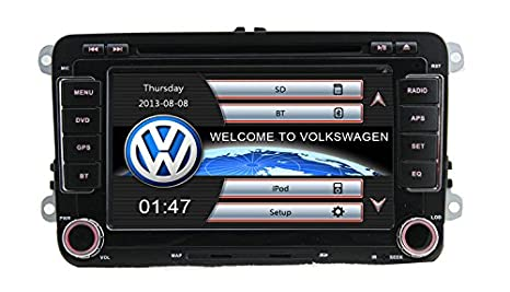 Navegador Volkswagen Golf V, VI / Passat B6, B7, CC - Táctil 2 DIN 7