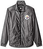 G-III Sports NFL Pittsburgh Steelers The Executive Full Zip Jacket, Medium, Charcoal Gray