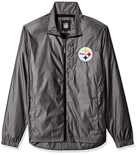 G-III Sports NFL Pittsburgh Steelers The Executive Full Zip Jacket, X-Large, Charcoal Gray (G-iii Jacket Mens)